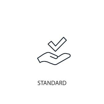 Ikona linii standardowej koncepcji. prosta ilustracja elementu. standardowa koncepcja projekt symbolu konspektu. może być używany do internetowego i mobilnego interfejsu użytkownika/ux