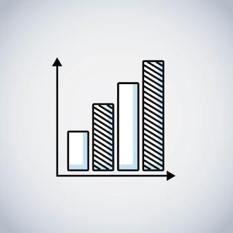 Ikona linii statystyki pasków