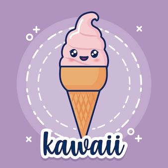 Ikona lody kawaii