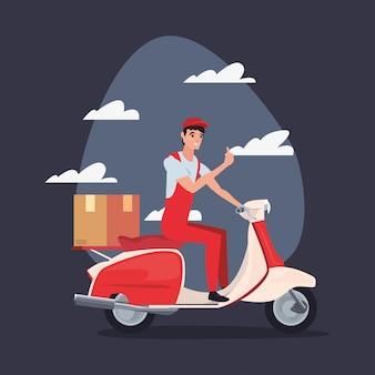 Ikona logistyczna szybkiej dostawy