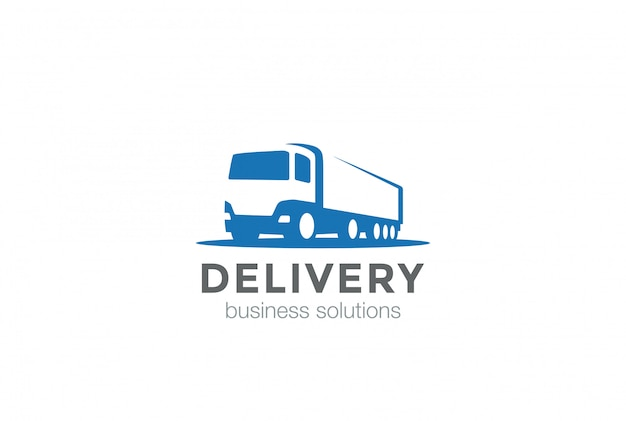 Ikona logo ciężarówki dostawy