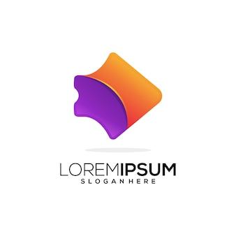Ikona logo coloerful firma biznesowa