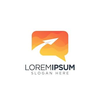Ikona logo czat wiadomość nowoczesny