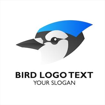 Ikona logo egzotycznych ptak niebieski jay