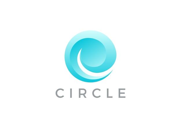 Ikona logo fala koło.