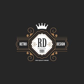 Ikona logo odznaka vintage label.