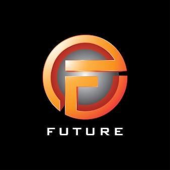 Ikona logo przyszłości koło