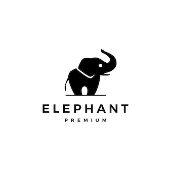 Ikona Logo Słonia Premium Wektorów