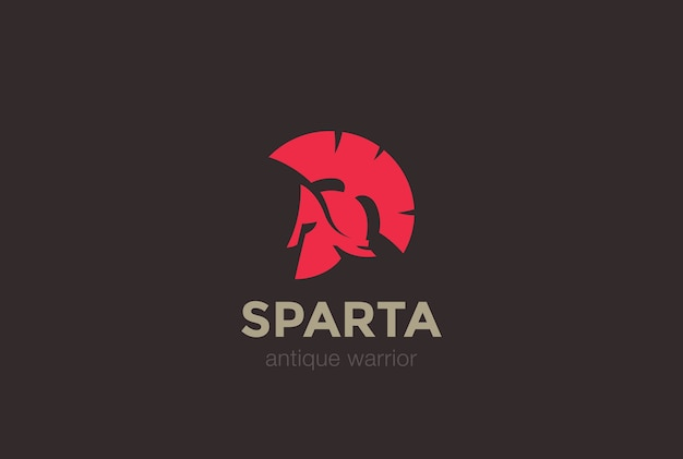 Ikona logo sparta warrior.