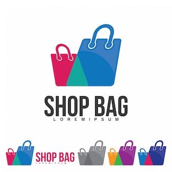 Ikona logo torby na zakupy logo sklepu internetowego i innych
