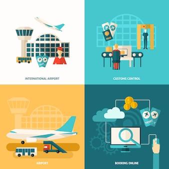 Ikona lotniska płaski