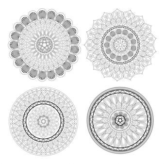 Ikona mandali. indyjski motyw dekoracji i dekoracji