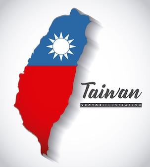 Ikona mapę tajwanu