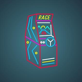 Ikona maszyny do gier zręcznościowych w stylu retro