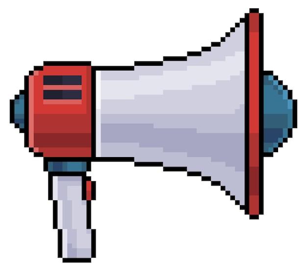 Ikona megafonu pixel art dla 8-bitowego