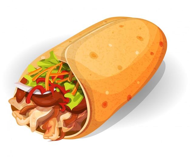 Ikona meksykańskiego burrito
