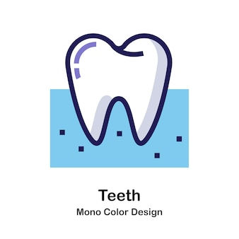 Ikona mono kolor zębów