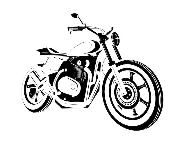Ikona motocykla. zawodnik kawiarni.