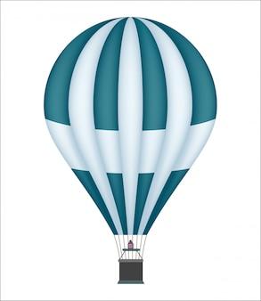 Ikona na białym tle balon na gorące powietrze