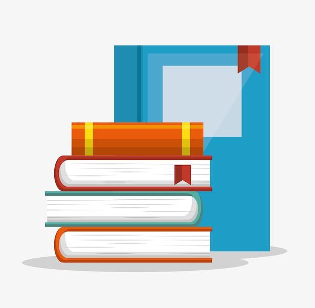 Ikona na białym tle biblioteka książek