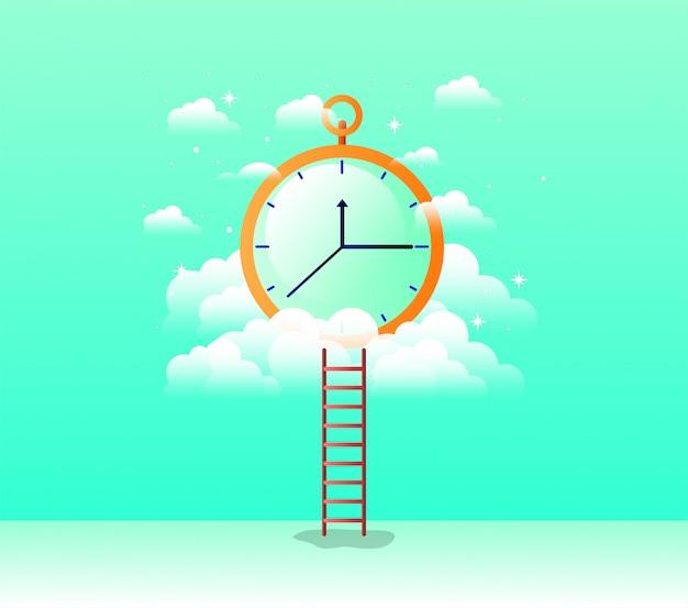 Ikona na białym tle chronometr