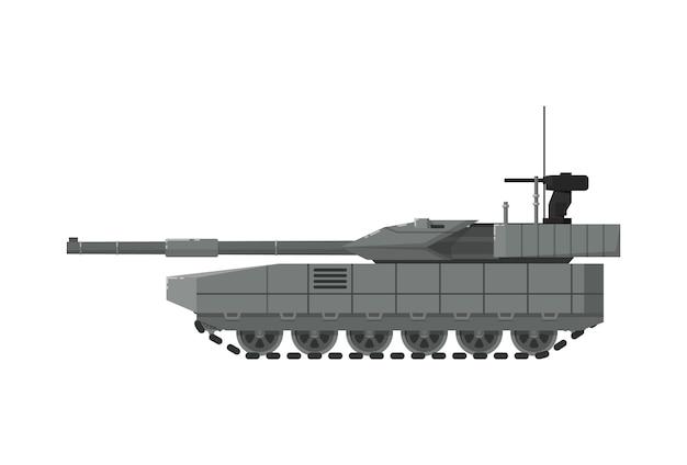 Ikona na białym tle czołg nowoczesnej armii