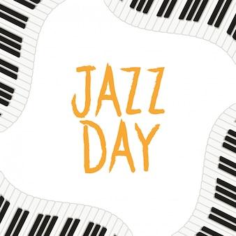 Ikona na białym tle etykieta dzień jazzu