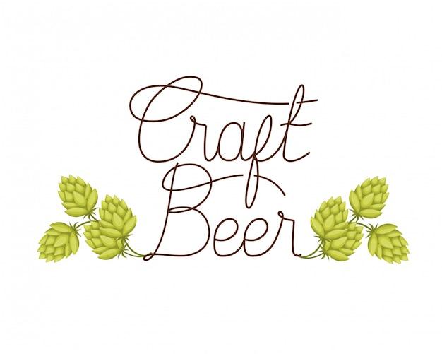 Ikona na białym tle etykiety piwa rzemiosła