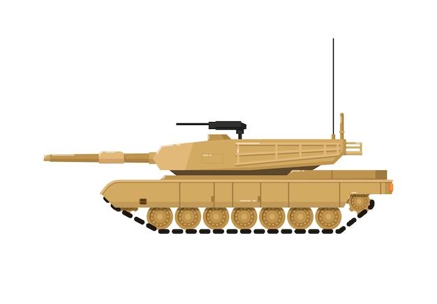 Ikona na białym tle nowoczesny czołg bojowy
