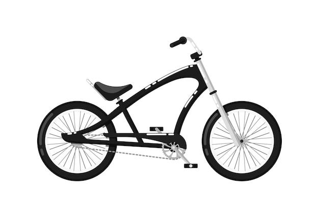 Ikona na białym tle rower miejski klasyczne