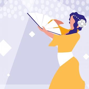 Ikona na białym tle tancerz flamenco