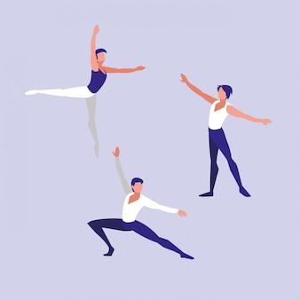 Ikona na białym tle tancerzy baletu