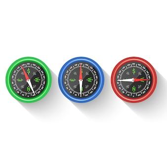Ikona nawigacji i kierunku. kompas, kierunek i nawigacja
