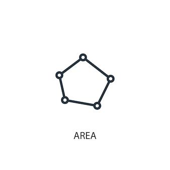 Ikona obszaru. prosta ilustracja elementu. projekt symbolu koncepcji obszaru. może być używany w sieci i na urządzeniach mobilnych.
