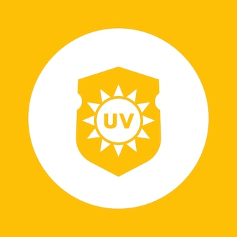 Ikona ochrony przed promieniowaniem uv