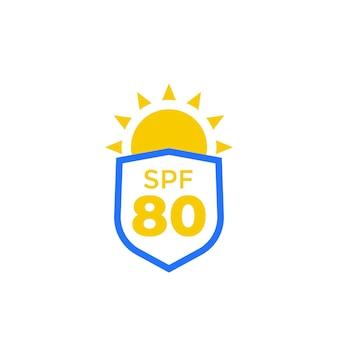Ikona ochrony spf 80, uv i przeciwsłoneczna