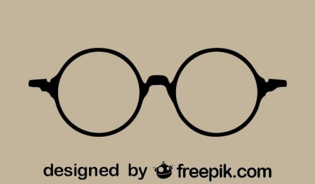Ikona okrągły okulary retro