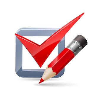 Ikona ołówka i znacznika wyboru