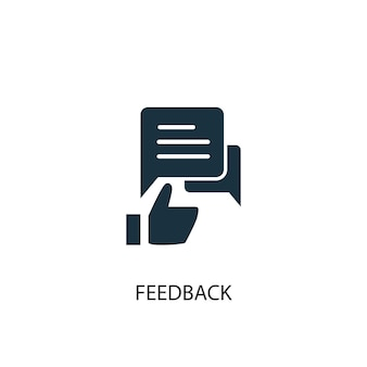 Ikona opinii. prosta ilustracja elementu. projekt symbolu koncepcji opinii. może być używany w sieci i na urządzeniach mobilnych.