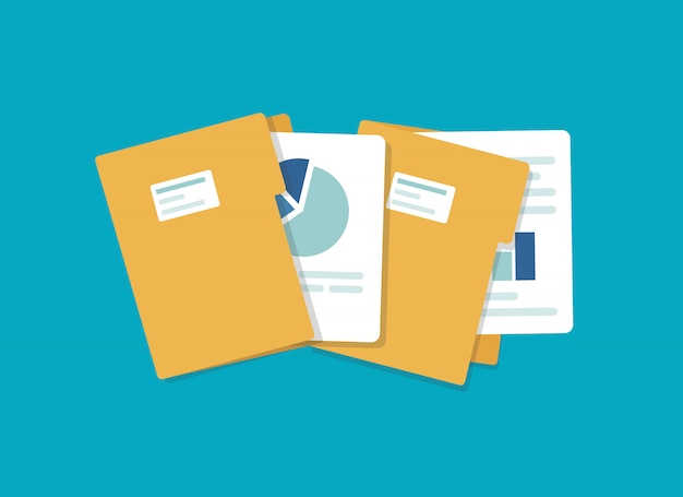 Ikona otwartego folderu. folder z dokumentami