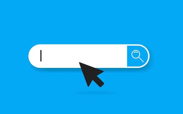 Ikona paska adresu i nawigacji. ilustracja wektorowa. piktogram http www wyszukiwania koncepcji biznesowej.