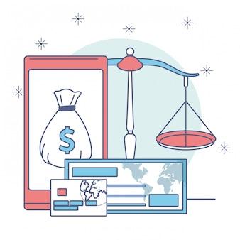 Ikona pieniędzy i biznesu