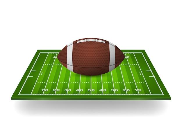 Ikona piłki nożnej na boisku.