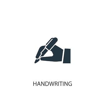 Ikona pisma ręcznego. prosta ilustracja elementu. projekt symbolu koncepcji pisma ręcznego. może być używany w sieci i na urządzeniach mobilnych.