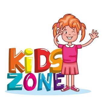 Ikona plakat strefy dzieci