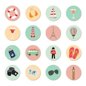 Ikona podróży dla dzieci