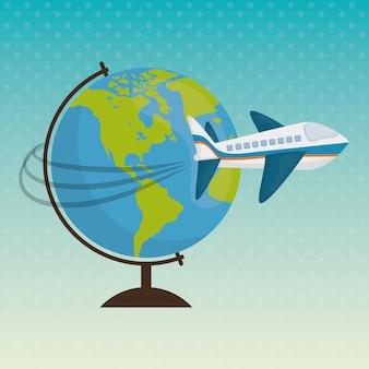 Ikona podróży, ilustracji wektorowych