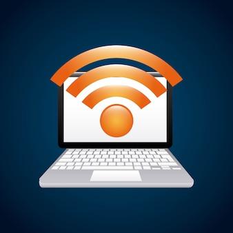 Ikona połączenia usługi wifi na białym tle