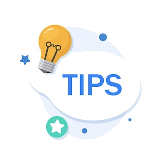 Ikona poradprzydatne sztuczki z przydatnymi informacjami na stronie internetowej lub w poście na blogu
