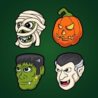 Ikona potwora halloween